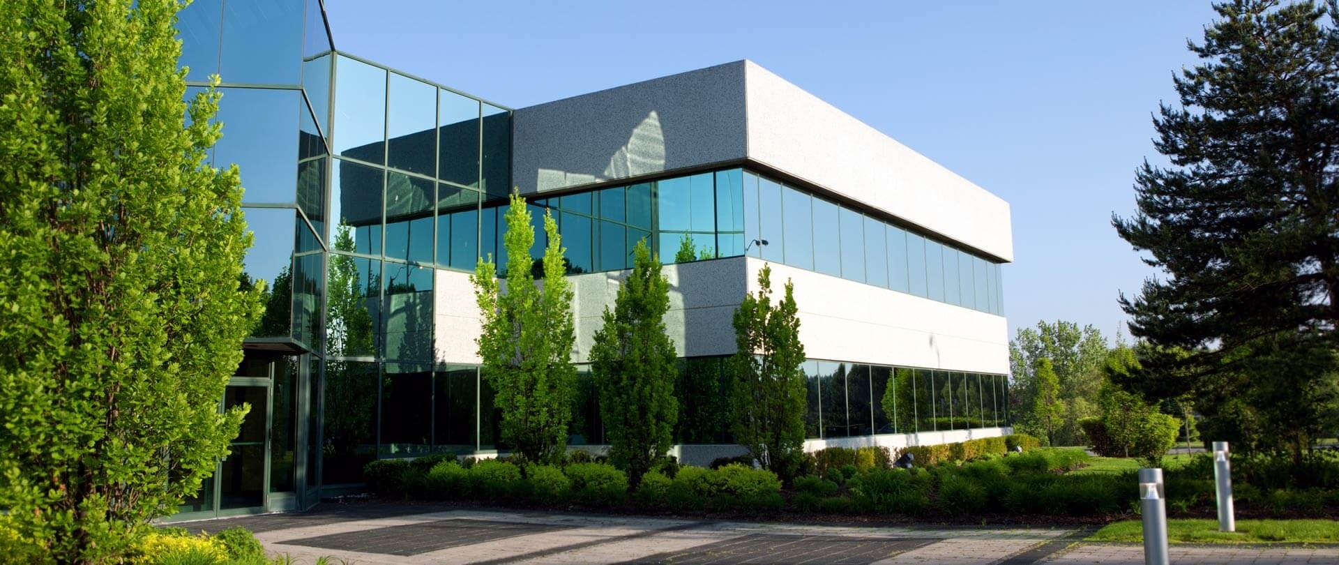 Science Park Building with trees